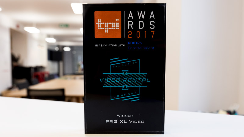 PRG XL Video Favourite Video Rental Company TPi Awards 2017